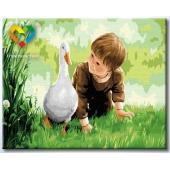 Мальчик и гусь (HB4050235)