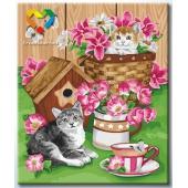 Котята и цветы (HB5060007)