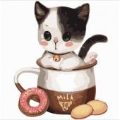 Котенок в чашке №1 (PC3030001)