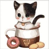 Котенок в чашке №1 (MB055)