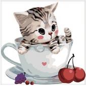 Котенок в чашке №3 (MB059)