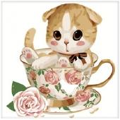 Котенок в чашке №4 (MB061)