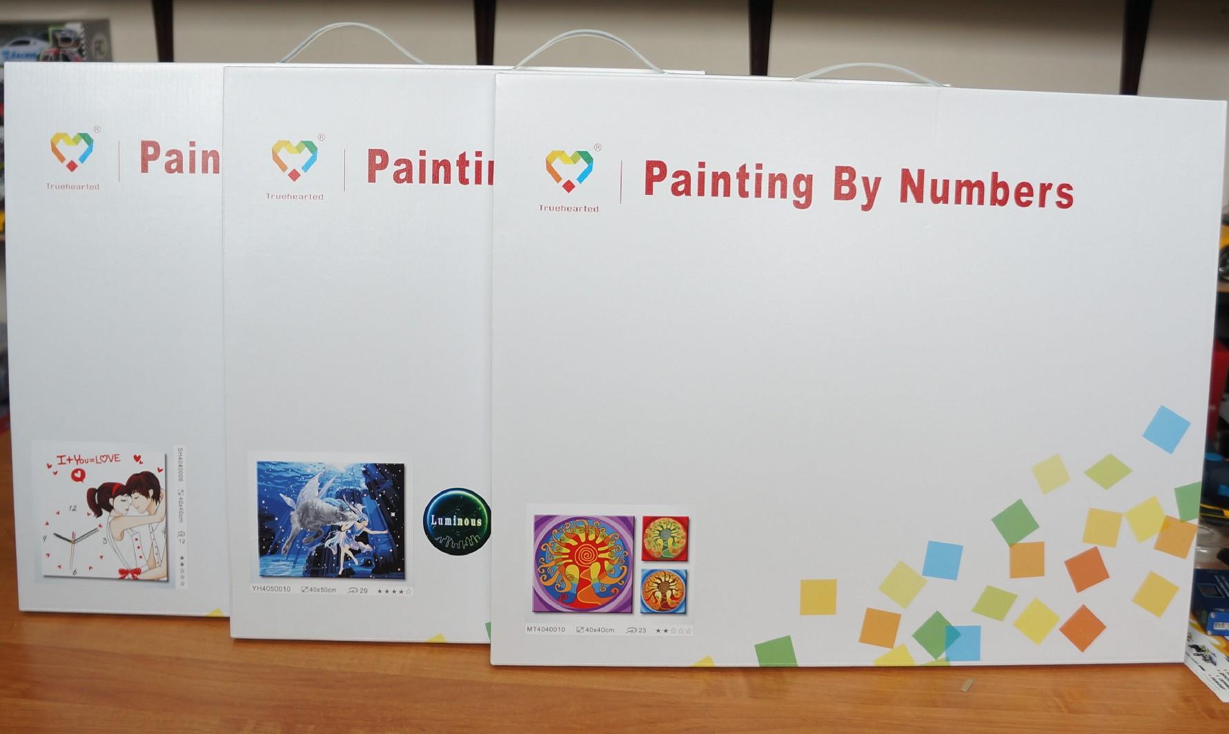 Схема для раскрашивания картин по номерам